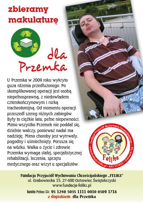 Plakat i ulotk dla Przemka